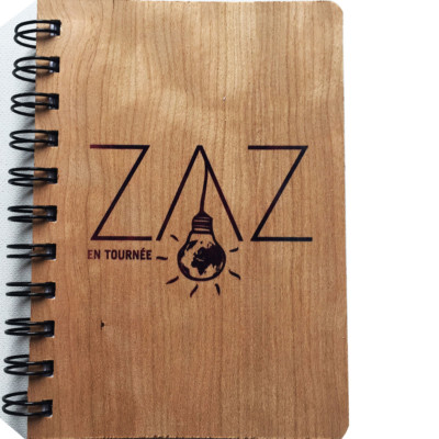 "WOODEN NOTEBOOK ""ZAZ ON TOUR"""
