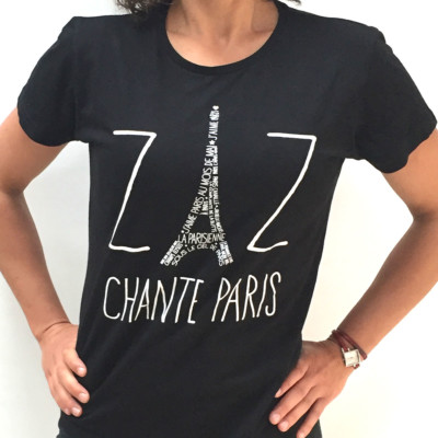 "T-SHIRT WOMAN ""ZAZ CHANTE PARIS"""