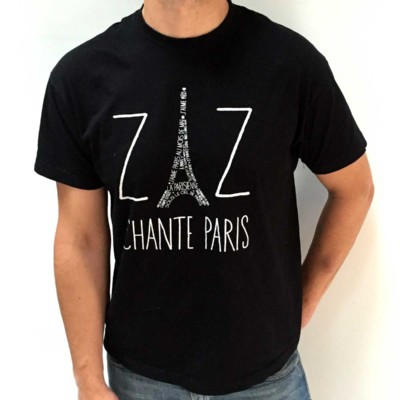 """Camiseta """"ZAZ Chante Paris"""" hombre"""